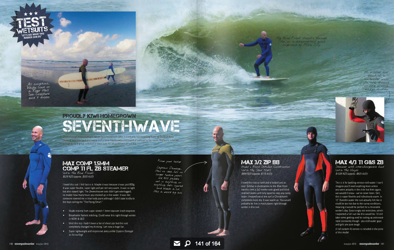 Seventhwave Wetsuits In Print 2012