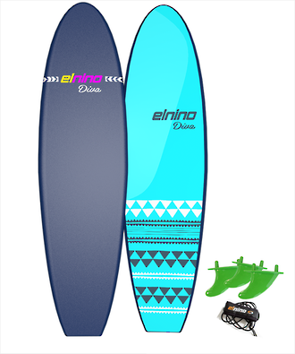 "Elnino 6'6"" Softboard - Cruiser or Diva -Now $249"